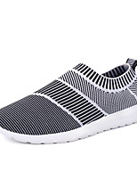 Men's Athletic Shoes Comfort Couple Shoes PU Tulle Spring Fall Outdoor Casual Flat HeelRoyal Blue Black/White Rose Pink Gray Dark