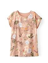 Tee-shirt Femme,Imprimé Sexy simple Chic de Rue Eté Manches Courtes Col Arrondi Coton Fin Moyen