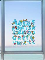 Palavras Contemporâneo Adesivo de Janela,PVC/Vinil Material Decoração de janela