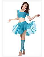 Dança do Ventre Blusas Mulheres Actuação Coração 4.0 Sem Mangas Alto Xale de Dança do Ventre