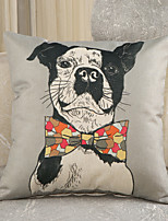 1 Pcs Creative Gentleman's Dog Printing Pillow Cover Personality Design Cotton/Linen Pillow Case