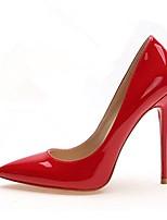 Women's Heels Comfort PU Spring Casual Comfort Blushing Pink Ruby White Flat
