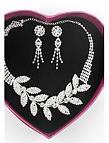 Femme Colliers chaînes Strass Alliage Original Fait à la main Bijoux de Luxe Bijoux Pour Mariage Soirée Fiançailles