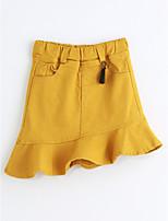 Pantalones Chica Un Color AlgodónVerano