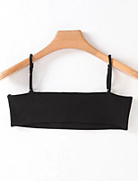 Women's Daily Simple Tank Top,Solid Strap Sleeveless Cotton