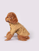 Dog Coat Dog Clothes Casual/Daily Solid Khaki Jade