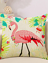 1 Pcs Linen Tropical Ostrich Printing Pillow Cover 45*45Cm Classic Pillow Case