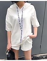 T-shirt Pantalone Completi abbigliamento Da donna Primavera Estate Manica corta Media elasticità