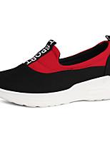 Mujer Zapatos de taco bajo y Slip-Ons Confort Tejido Primavera Otoño Informal Tacón Plano Negro Rojo 2'5 - 4'5 cms