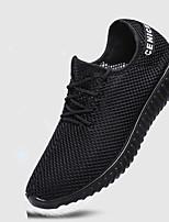 Для мужчин Мокасины и Свитер Удобная обувь Ткань Весна Лето Повседневный На плоской подошве Черный Серый 2,5 - 4,5 см