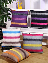 1 Pcs Striped Velveteen Pillow Cover Fashion Simple Pillow Case