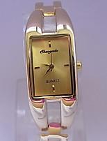 Damen Armbanduhr Quartz Legierung Band Armreif Gold