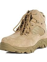 Для мужчин Ботинки Удобная обувь С ремешком на лодыжке Кожа Весна Лето Осень Зима Для прогулок Повседневный Для трейлраннингаАрмейские