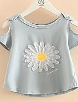 Baby Off-The-Shoulder 2017 Summer Wear Short Sleeve T-Shirt New Children's Short Sleeve Round Collar Jacket of The Girls