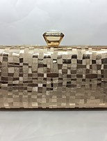 Women Evening Bag PU All Seasons Formal Event/Party Baguette Push Lock Red Silver Black Gold Champagne