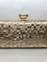 Abendtasche PU Druck-Verschluss Champagner Gold Schwarz Silber Rote