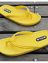 Men's Slippers & Flip-Flops Comfort Couple Shoes Rubber Spring Casual Yellow Gray White Flat