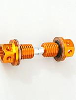 2pcs cnc billet d'aluminium en aluminium magnétique bouchon de bouchon de vidange pour vélo de poussière de chine crf50
