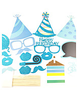 18pcs Birthday Party Photo Booth Props Photobooth Party Decoration