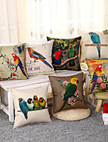 3D Parrot Pillow Cover 7 Design Square Cotton/Linen Pillow Case