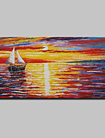 Hand Painted Boat Oil Painting On Canvas Modern Abstract Wall Art Picture For Home Decoration Ready To Hang