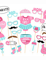 25pcs Baby Shower Party Photo Booth Props Photobooth Party Decoration