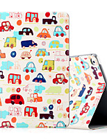 For Apple iPad (2017) iPad Air 2 iPad Air Case Cover Shockproof with Stand Flip Pattern Full Body Case Cartoon Hard PU Leather