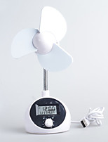 Mini USB Fan with Stable Stand and Clock for Offices and Homes