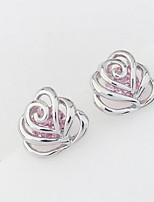 Stud Earrings Women's Girls' Earrings Set Euramerican Delicate Elegant Zircon Flower Friendship Party Daily  Movie Jewelry
