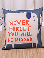 1 Pcs Never Foregt You Will Be Missed Printing Pillow Cover 45*45Cm Pillow Case Cotton/Linen Cushion Cover