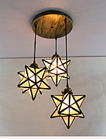 Pendant Light ,  Nature Inspired Other Feature for Matte Crystal Metal Girls Room Kids Room Hallway 3 Bulbs