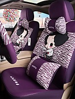 Car Seat Cushion Car Ceat Cushion Cets Of Family Car Cartoon Cute Ice Silk Cloth Material---Purple Zebra Stripes-217