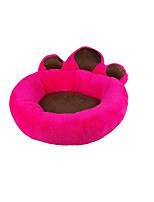Dog Bed Pet Mats & Pads Solid Footprint/Paw Warm Soft Ruby White