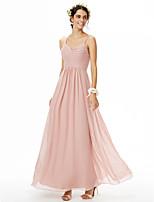 2017 LAN TING BRIDE Floor-length Spaghetti Straps Bridesmaid Dress - Beautiful Back Sleeveless Chiffon