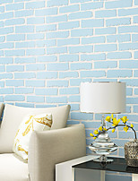 Contemporary Wallpaper Art Deco 3D Brick Wallpaper Wall Covering Non-woven Fabric Wall Art