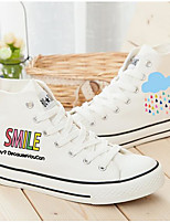 Women's Flats Comfort Canvas Spring Casual White Flat