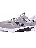 Men's Athletic Shoes Comfort PU Spring Fall Outdoor Comfort Lace-up Flat Heel Black Dark Blue Gray Under 1in