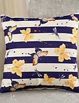 1 Pcs Cotton/Linen Butterfly With Striped Pillow Cover Creative Pillow Case