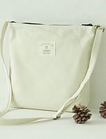 Women Shoulder Bag Canvas All Seasons Casual Shopper Zipper White