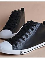 Da uomo Sneakers Comoda Di corda PU (Poliuretano) Primavera Casual Bianco Nero Piatto