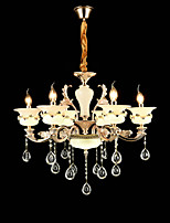 Chandelier ,  Traditional/Classic Zinc Alloy Feature for Crystal Mini Style Metal Living Room Bedroom Study Room/Office 6 Bulbs