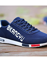 Hombre Zapatillas de deporte Confort Tela Tul Primavera Casual Negro Gris Azul Plano
