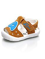 Девочки На плокой подошве Обувь для малышей Натуральная кожа Дерматин Весна Осень Повседневные Для прогулок Обувь для малышей На липучках