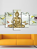 Art Print Abstract Portrait Traditional Five Panels Horizontal Print Wall Decor For Home Decoration