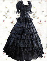 One-Piece/Dress Gothic Lolita Lolita Cosplay Lolita Dress Vintage Cap Short Sleeve Floor-length Dress For Other