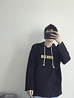 Men's Other Casual Hoodie Solid Hooded Micro-elastic Cotton Long Sleeve Spring