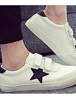 Men's Sneakers Comfort PU Spring/Fall Spring Casual White Black Flat