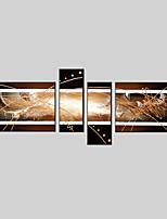 Ручная роспись Абстракция Любые формы,Modern Европейский стиль 4 панели Холст Hang-роспись маслом For Украшение дома