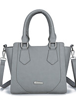 Women Tote PU All Seasons Formal Casual Event/Party Wedding Office & Career Hobo Zipper Gray Blushing Pink Black