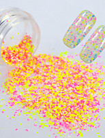 0.2g/bottle Round Bottle Summer Hot Fashion Nail Art Irregular Paillette Candy Color Sweet Style Beautiful Snowflake Flakes  DIY Charm Decoration XH02